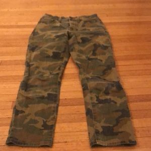 Madewell camouflage jeans